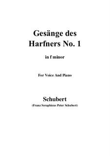 No.1 Wer sich der Einsamkeit ergibt: F minor by Франц Шуберт