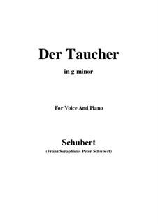 Der Taucher (The Diver), D.77: G minor by Франц Шуберт