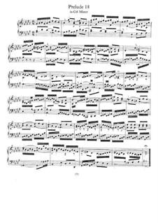 Прелюдия и фуга No.18 соль-диез минор, BWV 887: Для фортепиано by Иоганн Себастьян Бах