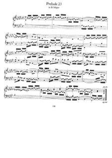 Прелюдия и фуга No.23 си мажор, BWV 868: Для фортепиано by Иоганн Себастьян Бах