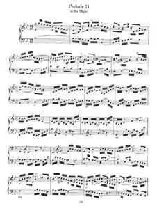 Прелюдия и фуга No.21 си-бемоль мажор, BWV 890: Для фортепиано by Иоганн Себастьян Бах