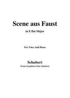 Сцена из 'Фауста', D.126: E flat Major by Франц Шуберт