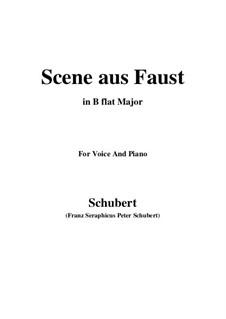 Сцена из 'Фауста', D.126: B flat Major by Франц Шуберт