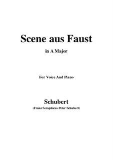 Сцена из 'Фауста', D.126: Ля мажор by Франц Шуберт
