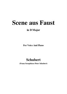 Сцена из 'Фауста', D.126: D Major by Франц Шуберт
