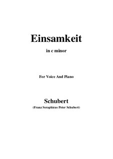 No.12 Одиночество: For voice and piano (c minor) by Франц Шуберт