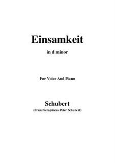 No.12 Одиночество: For voice and piano (d minor) by Франц Шуберт