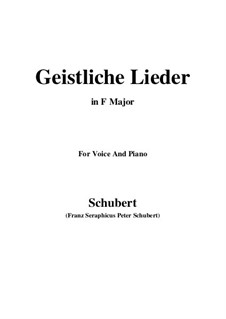 Geistliche Lieder: Фа мажор by Франц Шуберт