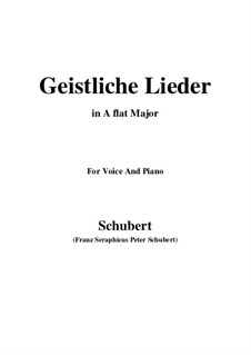 Geistliche Lieder: A flat Major by Франц Шуберт