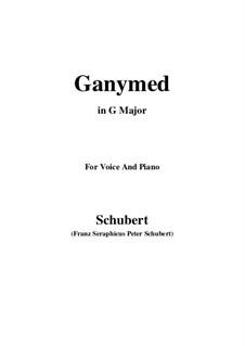 Ганимед, D.544 Op.19 No.3: Для голоса и фортепиано (G Major) by Франц Шуберт