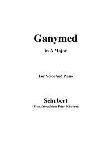 Ганимед, D.544 Op.19 No.3: Для голоса и фортепиано (A Major) by Франц Шуберт
