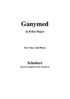 Ганимед, D.544 Op.19 No.3: Для голоса и фортепиано (B Flat Major) by Франц Шуберт