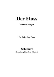 Der Fluss (The River), D.693: D flat Major by Франц Шуберт