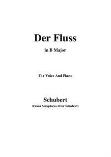 Der Fluss (The River), D.693: B Major by Франц Шуберт