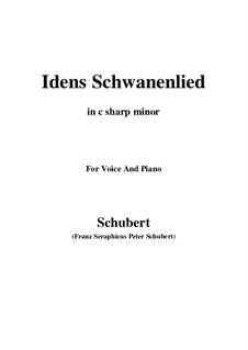 Idens Schwanenlied (Ida's Swan Song), D.317: C sharp minor by Франц Шуберт