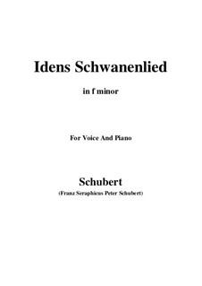 Idens Schwanenlied (Ida's Swan Song), D.317: F minor by Франц Шуберт