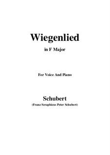 Колыбельная, D.867 Op.105 No.2: Для голоса и фортепиано (Фа мажор) by Франц Шуберт