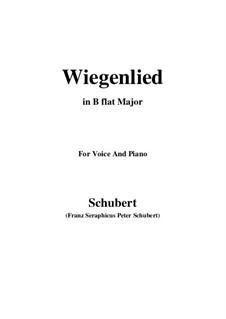 Колыбельная, D.867 Op.105 No.2: Для голоса и фортепиано (B Flat Major) by Франц Шуберт