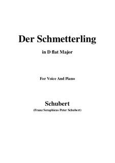 Der Schmetterling (The Butterfly), D.633 Op.57 No.1: D flat Major by Франц Шуберт