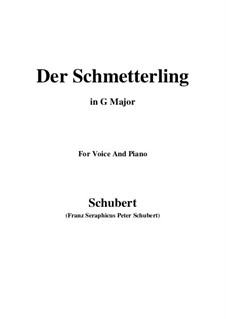 Der Schmetterling (The Butterfly), D.633 Op.57 No.1: G Major by Франц Шуберт