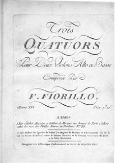 Три струнных квартета, Op.16: Скрипка I by Федериго Фьориллло