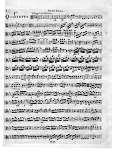 Три струнных квартета, Op.16: Партия альта by Федериго Фьориллло