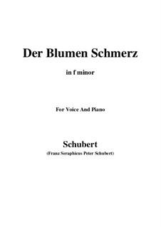 Der Blumen Schmerz (The Flowers Pain), D.731 Op.173 No.4: F minor by Франц Шуберт
