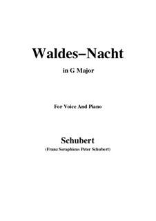 Im Walde (In the Forest), D.708: Для голоса и фортепиано (G Major) by Франц Шуберт