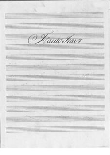 Концерт для флейты с оркестром No.3 фа мажор: Партии by Фридрих Хартманн Граф