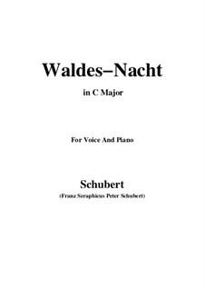 Im Walde (In the Forest), D.708: Для голоса и фортепиано (C Major) by Франц Шуберт