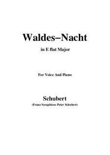Im Walde (In the Forest), D.708: Для голоса и фортепиано (E Flat Major) by Франц Шуберт