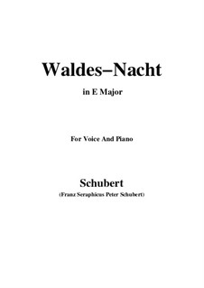 Im Walde (In the Forest), D.708: Для голоса и фортепиано (E Major) by Франц Шуберт