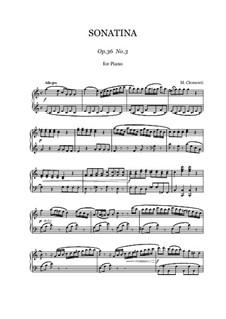 Сонатина No.3: Для фортепиано by Муцио Клементи