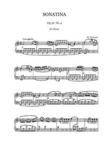 Сонатина No.4: Для фортепиано by Муцио Клементи