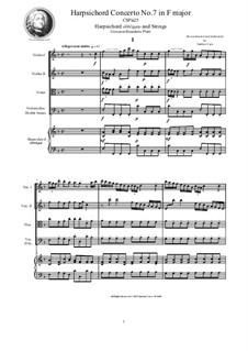 9 Concertos for Harpsicord obbligato and Strings: Concerto No.7 in F major, CSPla25 by Джованни Бенедетто Платти