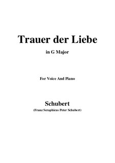 Trauer der Liebe (Love's Sorrows), D.465: G Major by Франц Шуберт
