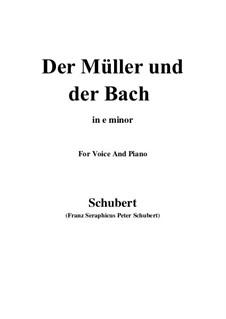 No.19 Мельник и ручей: For voice and piano (e minor) by Франц Шуберт
