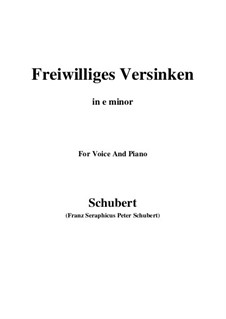 Freiwilliges Versinken (Voluntary Oblivion), D.700: E minor by Франц Шуберт