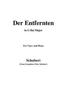 Der Entfernten (To the Distant Beloved), D.350: G flat Major by Франц Шуберт