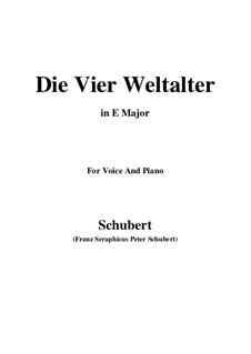 Die vier Weltalter (The Four Ages of the World), D.391 Op.111 No.3: E Major by Франц Шуберт