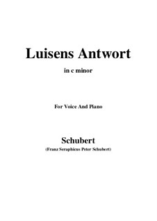 Luisens Antwort (Louisa's Answer), D.319: C minor by Франц Шуберт