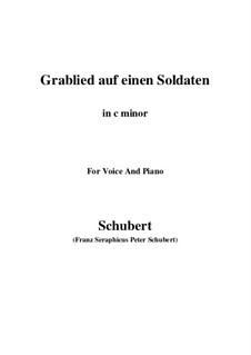 Grablied auf einen Soldaten (Dirge for a Soldier), D.454: C minor by Франц Шуберт
