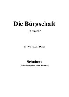 Die Bürgschaft (The Bond), D.246: F minor by Франц Шуберт