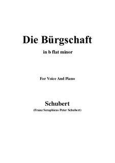Die Bürgschaft (The Bond), D.246: B flat minor by Франц Шуберт