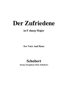 Der Zufriedene (The Contented Man), D.320: F sharp Major by Франц Шуберт