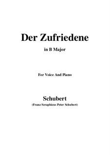 Der Zufriedene (The Contented Man), D.320: B Major by Франц Шуберт