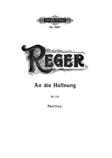 An die Hoffnung für Stimme und Orchester, Op.124: Партитура by Макс Регер