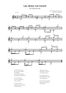 Les dotze van tocant: Les dotze van tocant by folklore