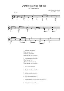 Dónde están las llabes?: For guitar solo (C Major) by folklore