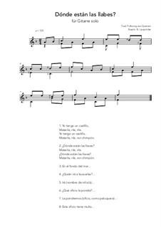 Dónde están las llabes?: For guitar solo (F Major) by folklore